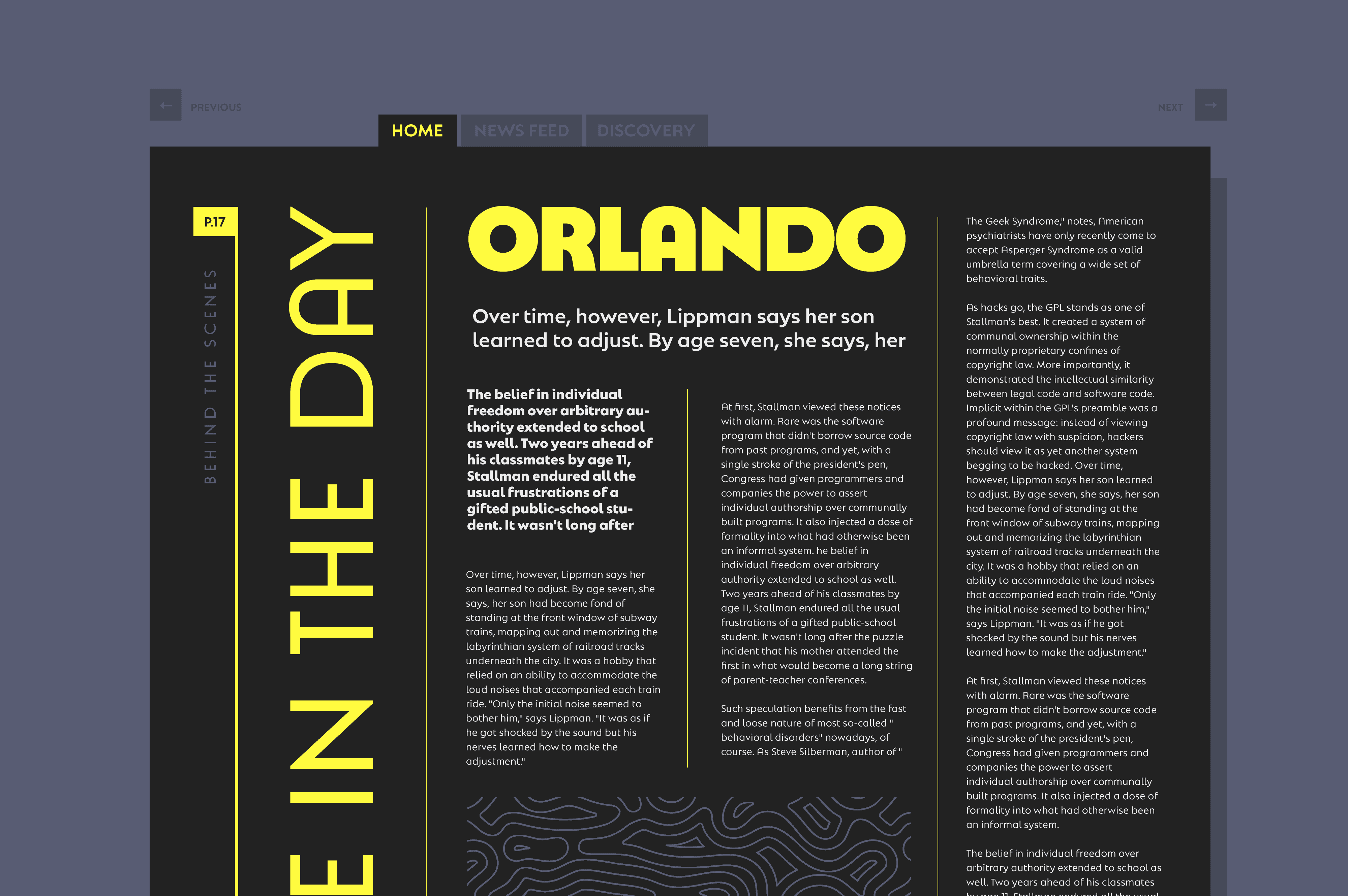 NAtom PRo font family in use in an editorial design project